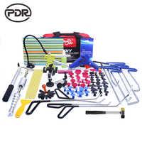 PDR outils crochets acier inoxydable tiges de poussée enlèvement de Dent carrosserie de voiture réparation de Dent inverse marteau sans peinture Kit de pied-de-biche