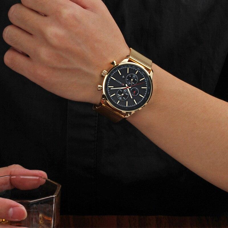 CURREN ძვირადღირებული ბრენდი - მამაკაცის საათები - ფოტო 6