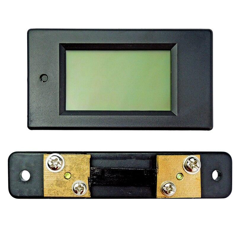 1 Unidades DC 6.5-100 V 50A LCD Combo meter voltaje actual kWh Watt panel meter 12 V 24 V 48 V batería + monitoreo 50A derivación