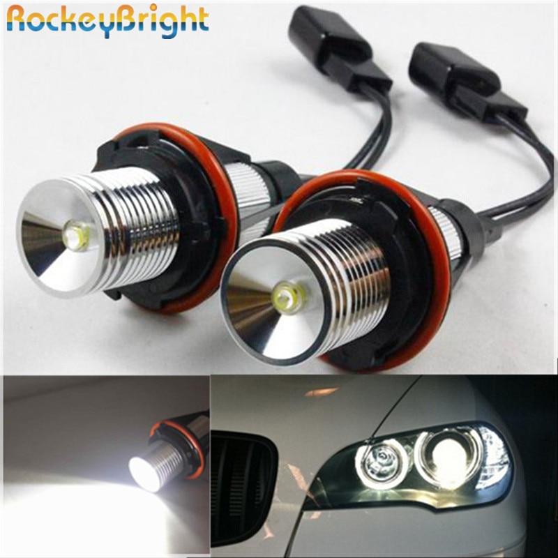 Rockeybright 6W E39 LED Angel Eyes Scheinwerfer Angel Eyes Halo Rings - Auto Lichter