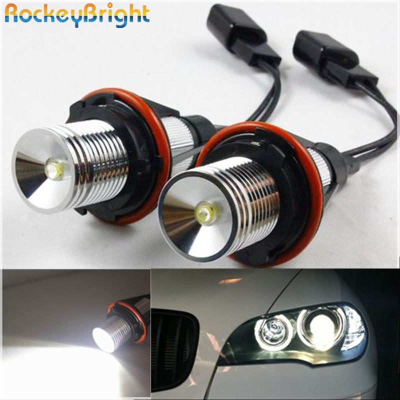Rockeybright 6W E39 LED Angel Eyes Headlight Angel Eyes Halo Rings Fog Lamp OEM for BMW E39 E53 E60 E61 E63 E64 E65 E66 E87