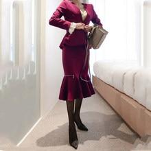 3404bfe4b9 Nueva moda temperamento cómodo ruffles traje y simple trabajo falda delgada  estilo de la alta calidad al aire libre tendencia pú.