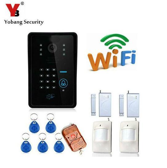 Yobang Security WIFI intercom Wifi Doorbell Home Video Intercom Door phone System RFID Door Camera door intercom Doorphone two way intercom wireless wifi video doorphone door entry security system support snap