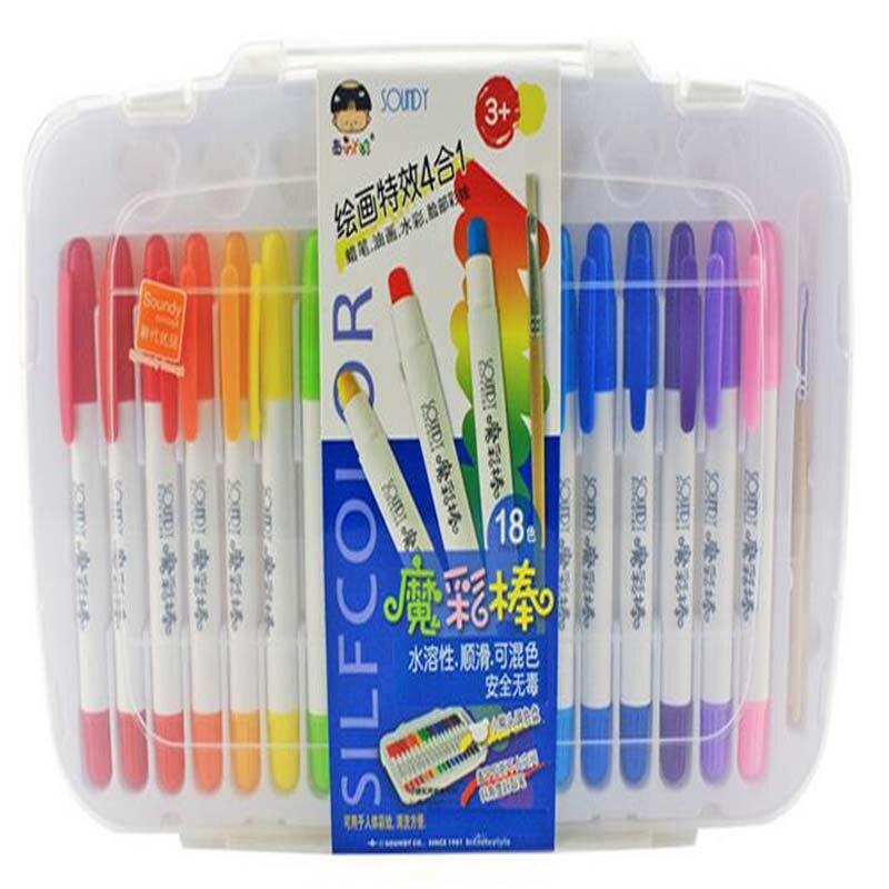 18 Color Drawing set colors children watercolor pen art marker pen Manga pen Water Washing Stationery Supplies #1204 art sound xd 1204