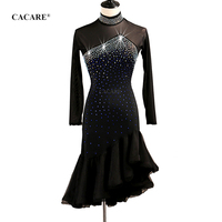 CACARE Latin Dance Dress Women Latin Dance Competition Dresses Fringed Dress Salsa Costumes Ballroom Tango 3 Choices D0513