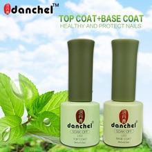 Danchel Lasting No Clean Top Coat Base Coat UV Gel Nail Polish Shiny Intense Seal Manicure Set Soak off Top Base Nail Primer 9ml