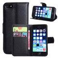Case para iphone 5 5s 5c se lujo cartera de cuero cubierta para iphone se capa fundas coque con tarjeta bancaria ranura