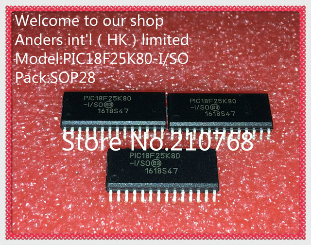 30 pçs/lote PIC18F25K80 I/SO 18F25K80 I/SO PIC18F25K80 18F25K80 SOP28