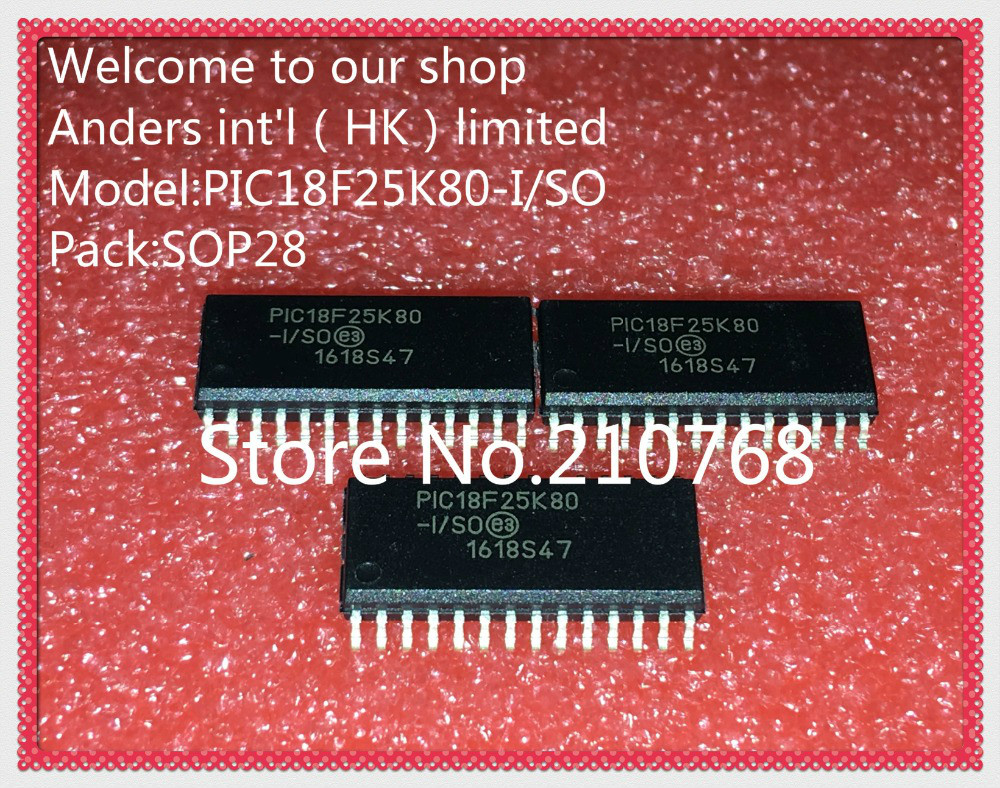 30pcs/lot        PIC18F25K80 I/SO        18F25K80 I/SO        PIC18F25K80        18F25K80         SOP28-in Integrated Circuits from Electronic Components & Supplies