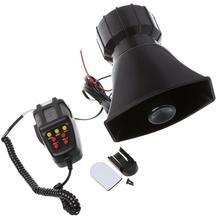 Dragonpad 100 ワット 7 サウンドカーエレクトロニクス警告サイレンオートバイ警報消防救急車スピーカーマイク空気ラウド車のホーン