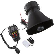 Dragonpad 100W 7 Sound Car Electronic Warning Siren Motorcycle Alarm Firemen Ambulance Loudspeaker with MIC Air Loud Car Horn(China)