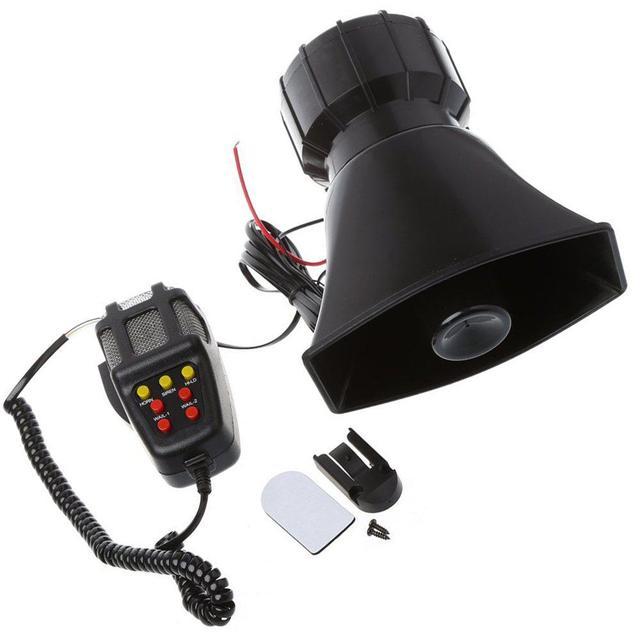 Dragonpad 100W 7 Sound Car Electronic Warning Siren Motorcycle Alarm Firemen Ambulance Loudspeaker with MIC Air Loud Car Horn