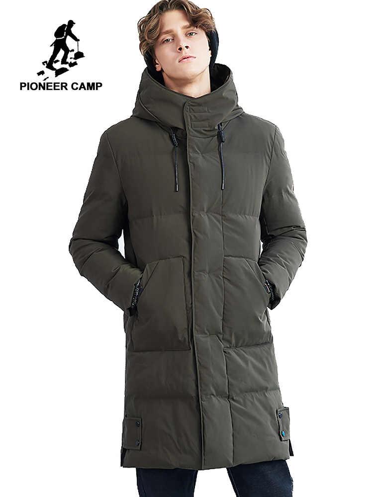 Пионерский лагерь длинная толстая зимняя куртка мужская брендовая одежда  теплое зимнее пальто мужской наивысшего качества стеганые 183b7aafcc7