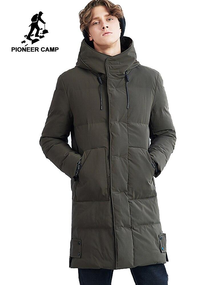 Пионерский лагерь длинная толстая зимняя куртка мужская брендовая одежда теплое зимнее пальто мужской наивысшего качества стеганые куртк...