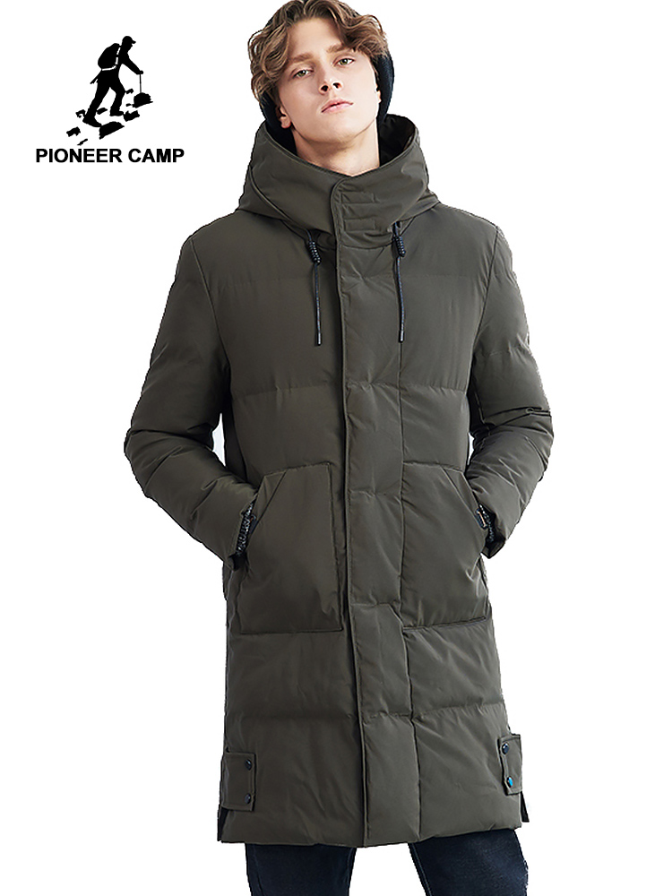 Pioneer Camp long thick winter jacket men brand clothing warm winter coat male top quality padded jackets for men AMF801456