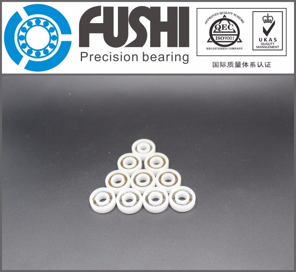 608 POM (10PCS) Plastic bearings 8x22x7mm  Glass Balls 8*22*7mm 50pcs pom plastic bearings 608 with glass balls 8x22x7 mm nylon bearing