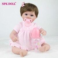 16インチシリコン生まれ変わった赤ちゃん人形手作りリアルな新生児ブランド人形ソフト人形女の子のおもちゃギフトbrinquedos
