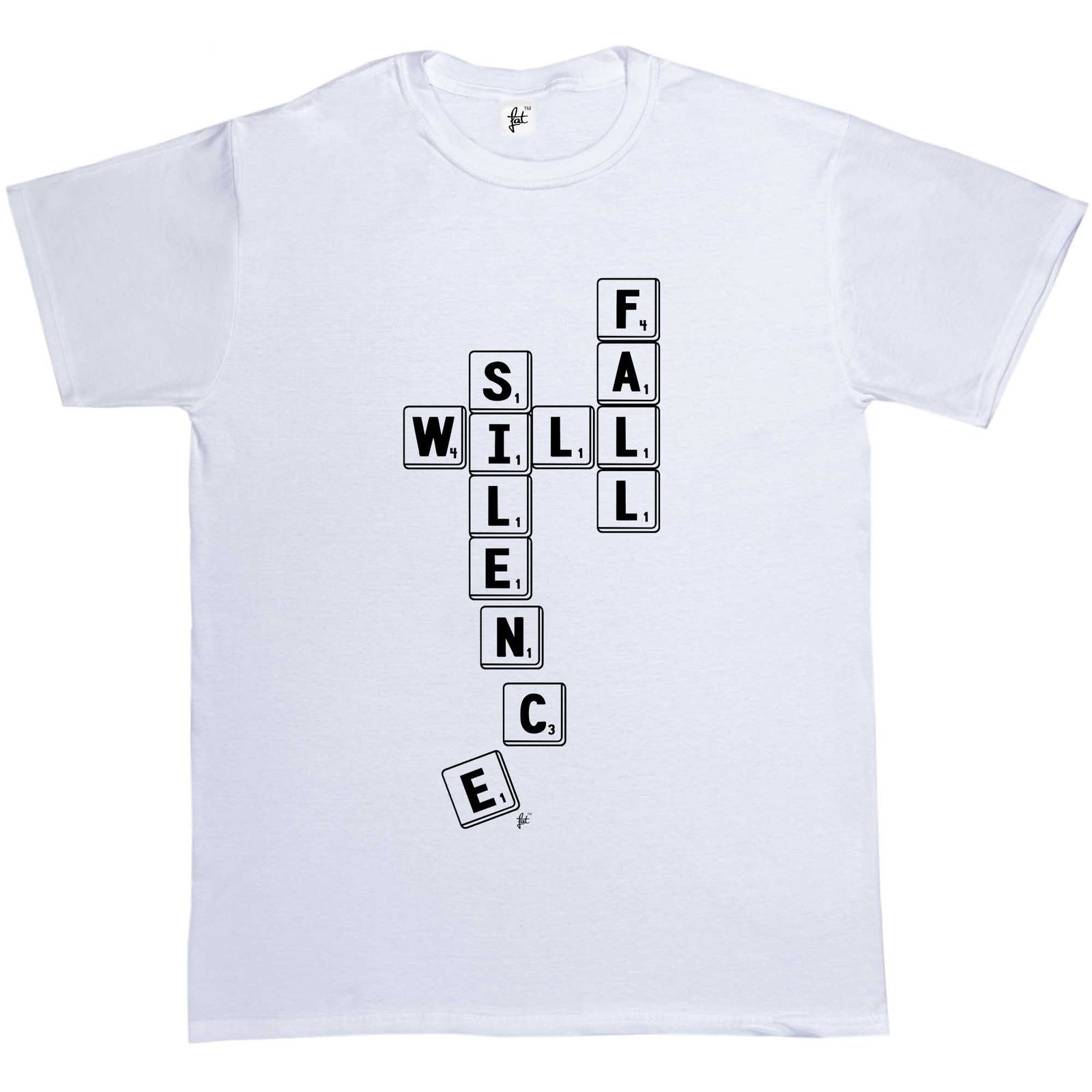 Silence Will Fall Scrabble Counters Mens T-Shirt