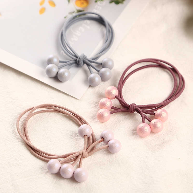 1PC New Multicolor Pearls Hair Holders Rubber Bands Elastics Girl Women Ponytail Tie Gum Fashion Hair Accessories Hair Rope