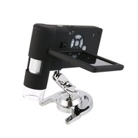 Um039 handheld digital 500x microscópio real 5.0mp 3 display display display lcd 8 led s2t4 profissional portátil handheld microscópio digital