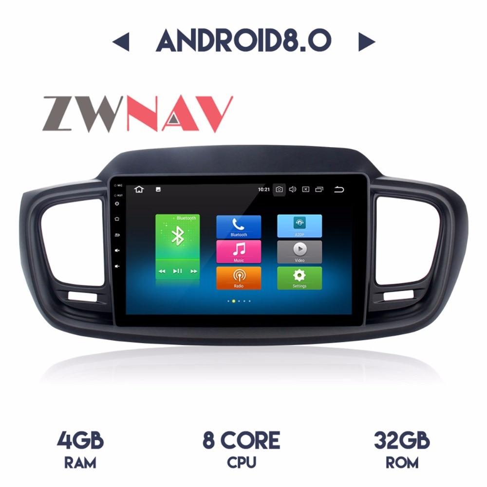 Android 8.0 4g RAM Octa Core Voiture Lecteur DVD GPS Navigation Headunit IPS Écran Pour KIA SORENTO 2015 2016 2017 2018 Gauche conduite