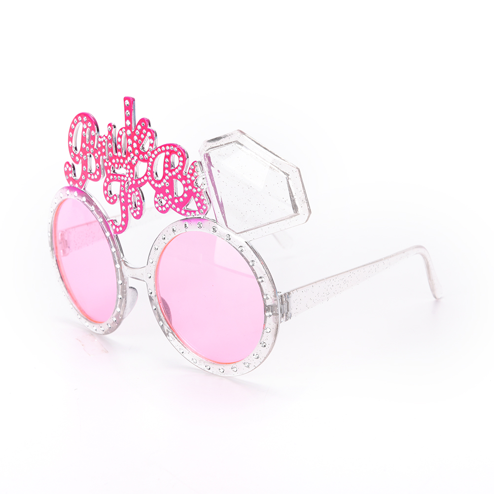 Pink Bling Diamond Ring Bachelorette Hen Party Supplies Bride To Be Glasses Bride Sunglasses Eye Decoration Photo Props