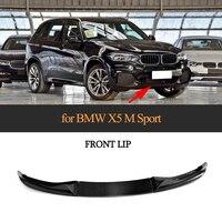 3PCS Carbon Fiber Front Bumper Lip Spoiler Protector Chin Apron for BMW X5 M SPORT 2014 2018