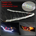 Flexible cut LED DRL Strips Light white yellow Sequential LED DRL stripes LED Daytime Running Light Turn Signal Lights strips