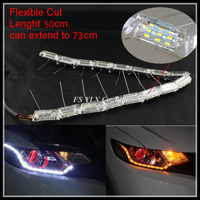 Flexible cut led drl strips light white yellow sequential led drl flexible cut led drl strips light white yellow sequential led drl stripes led daytime running light aloadofball Images