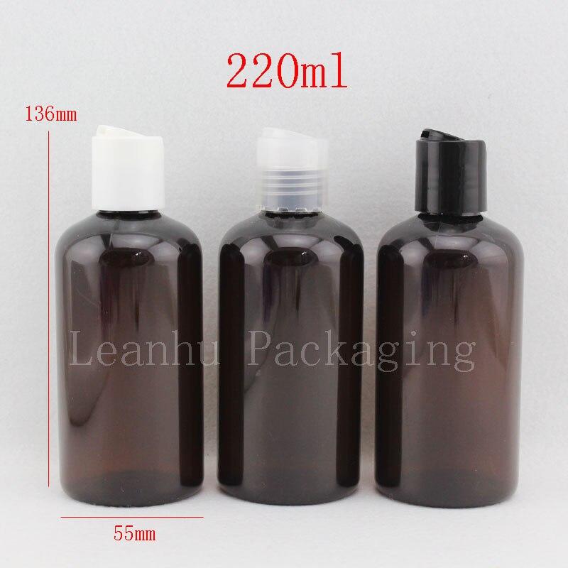 gel de douche /échantillon presser r/éservoir de voyage cosm/étiques visage beaut/é emballage de rangement Lot de 2 flacons de shampoing vides remplissables en plastique transparent pour shampoing