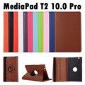 Para huawei mediapad t2 10.0 pro fdr-a01w/fdr-a03l 10.0 pulgadas tablet pu del tirón del cuero 360 grados que giran la caja del soporte de la cubierta