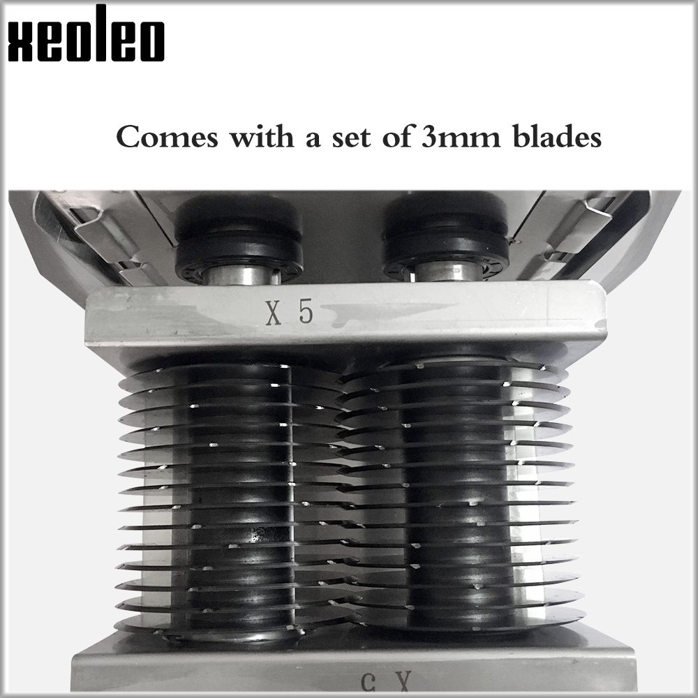 XEOLEO Commercial Meat Slicer Part Electric Meat Cutter Blades Stainless Steel Chopper Meat 2.5/3/4/5/6/7/8mm Thickness