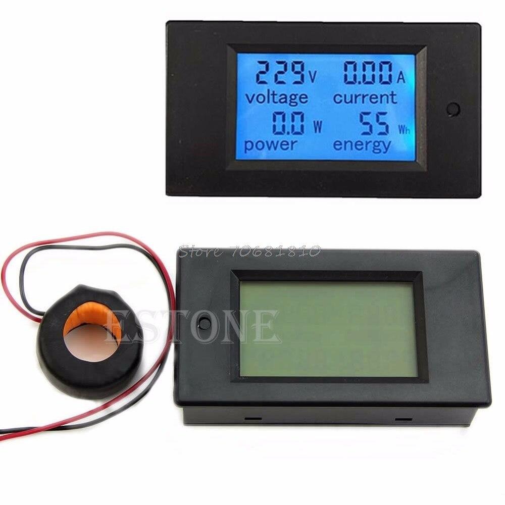 New AC 80-260V LCD Digital 100A Volt Watt Power Meter Ammeter Voltmeter New Network Tools