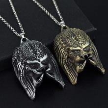 Collier avec pendentif tête de prédateur, film d'horreur, masque, Alien, bijoux pour hommes