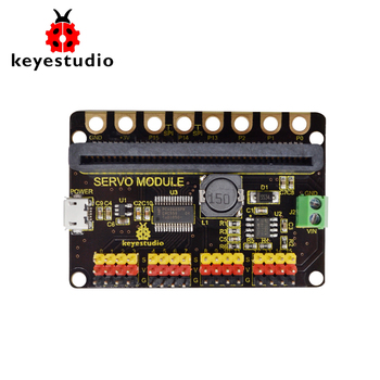 цена на Keyestudio microbit  16-channel PCA9685PW Servo Module Shield for Micro:bit