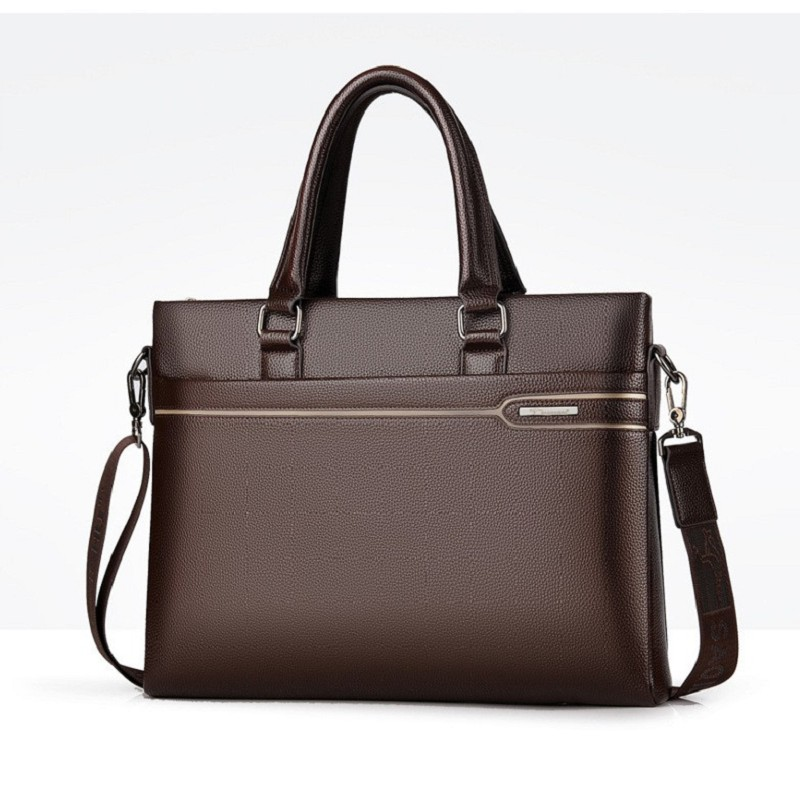 Men Briefcases Business Bag A4 Doc. Laptop Quality PU Formal Work Bags High Capacity Large Handbag Male Handbags
