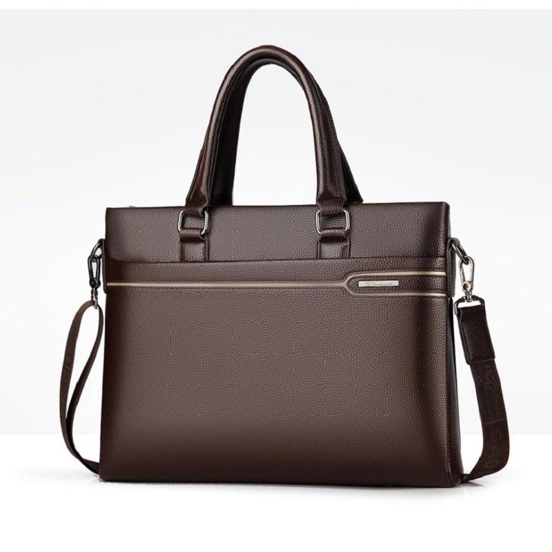 Men Briefcases Business Bag A4 Doc. Laptop Quality PU Formal Work Bags High Capacity Large Handbag Male Handbags