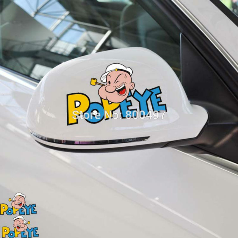 20 x Newest Car Styling Funny Popeye the Sailor Car Sticker Car Decals for Toyota Honda Chevrolet Volkswagen Tesla BMW Lada Fiat
