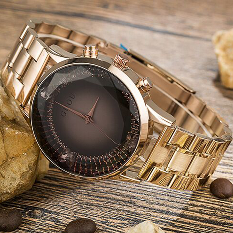 Rose Gold Stainless Steel Watch Diamond GUOU Fashion Ladies Watch Luxury Reloj Mujer Women's Watches Clock Women relogios saat
