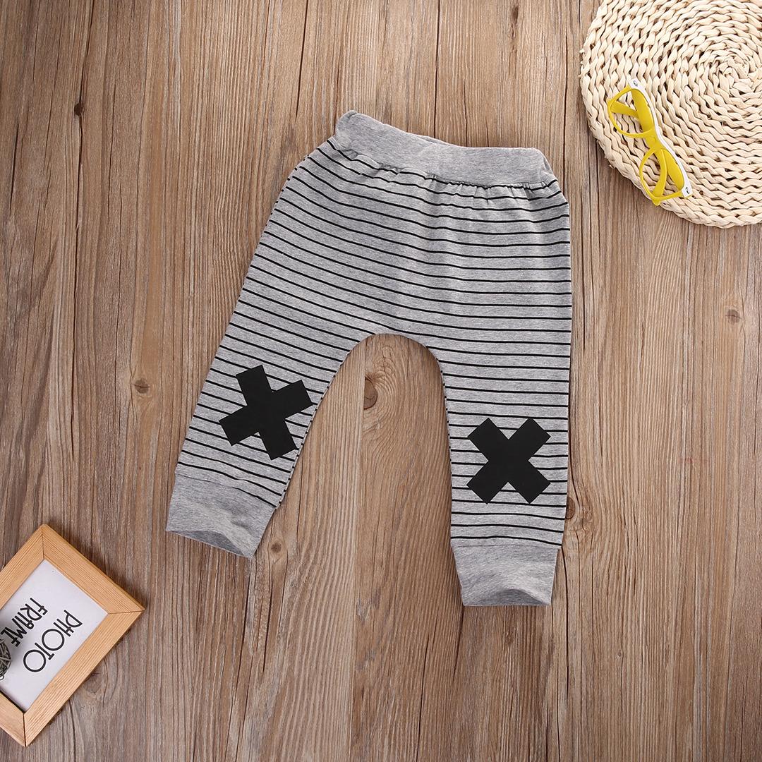 0-2Y Boys Baby Dziewczyny Cute Paski Potwór Dolne Spodnie Legginsy Spodnie Harem Dzieci Spodni 2
