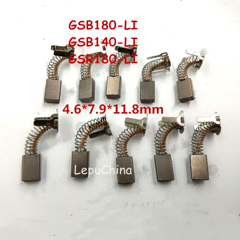 5 paires de brosses en carbone de remplacement pour Bosch GSB180-LI GSB140-LI GSR 180-LI perceuse brosse perceuse sans fil outil électrique accessoires