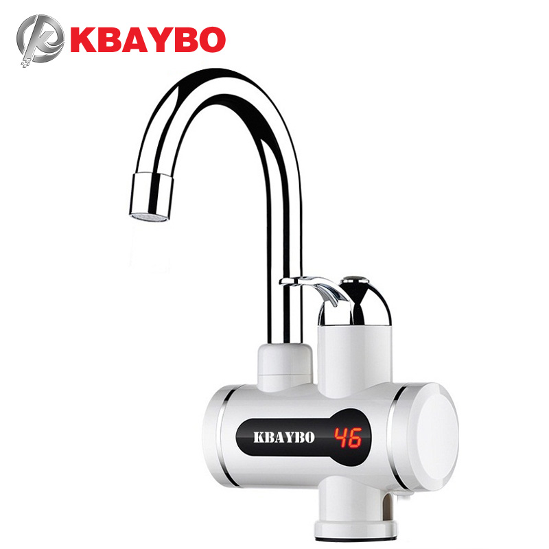 NEW Instant Water Heater Tankless Water Heater Tap Instant Hot Water Faucet Crane 3000W with LCD Temperature Display