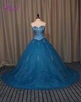 Fmogl Роскошные бисера Кристалл принцессы Пышное Платье 2018 Изящные Органзы Королевский Синий бальное платье миди платье для 15 anos