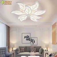 Nordic led ceiling light Warm/Nature/Cool White 3 Color 220V Leaf ceiling lamp bedroom/home/living room light led light fixture