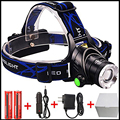 Cree XM-L T6 XM-L2 Head Lamp High Power LED Headlamp 3Modes LED Headlight EU/US Charger Use 18650 battery For Hunting/Camping