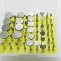 50 Pieces Mounted Stone Alloy Polishing Grinding Head Jade Carving Tools 3mm Handle 45mm Length