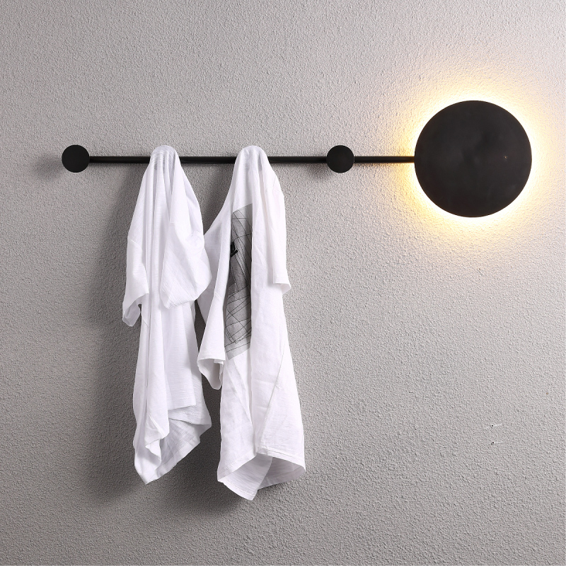 industrial decor LED Wall Light Clothes Hanger luminaria de parede sconce wall lights led wall lights