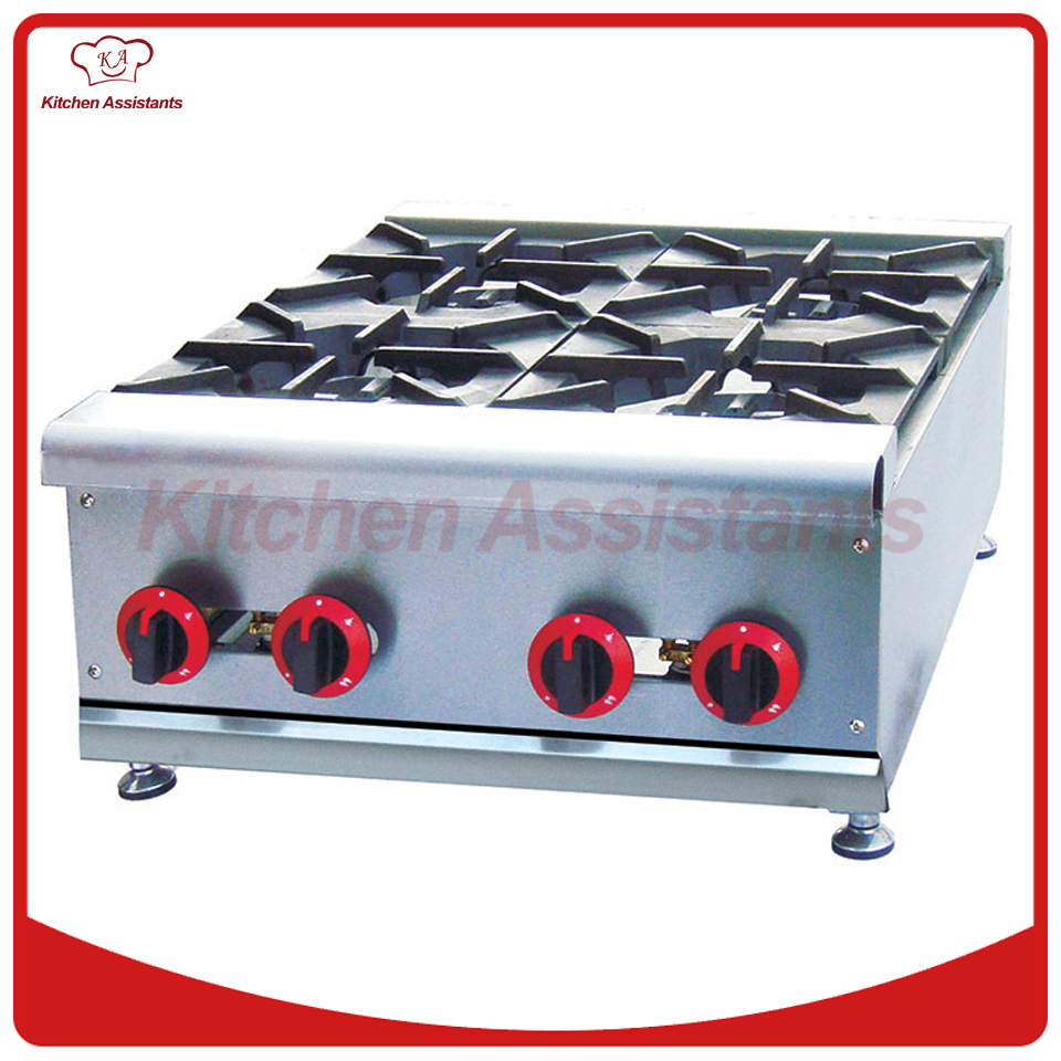 GH4 gas range with 4 burner of catering equipment gh987 gas range with 4 burner with cabinet