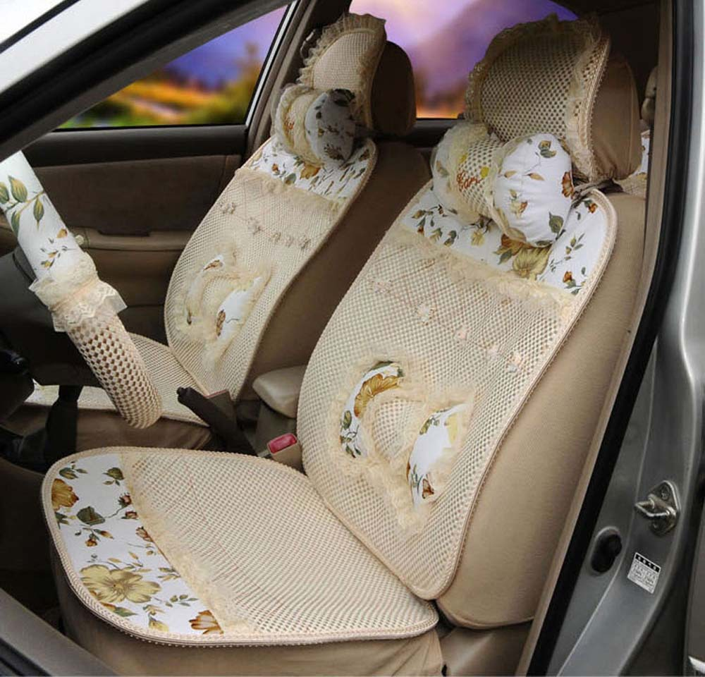 Car Seat Covers And Steering Wheel Cover Set