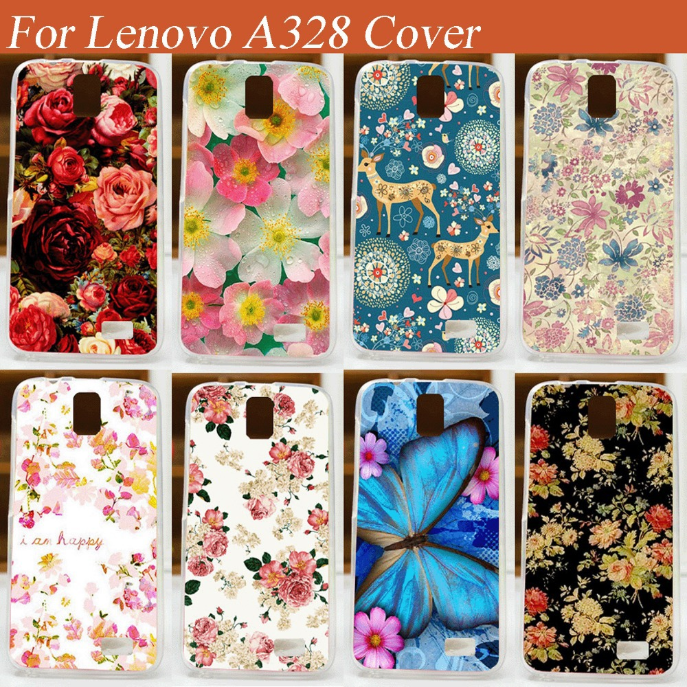 save off dae30 da18a US $1.98 |DIY beautiful flowers skin shell cover case For Lenovo A328  pattern painted hard plastic cover case for Lenovo A328 on Aliexpress.com |  ...